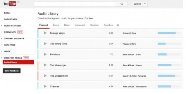 YouTube Adds New Background Music Library to Features