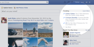 Facebook Launches 'Trending' Feature